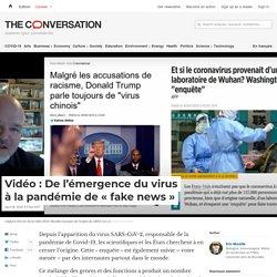 Vidéo: Del'émergence duvirus àlapandémie de«fake news»
