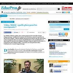 Vidéo. MOOC : quelle place pour les enseignants ?