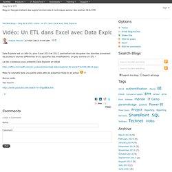 Exemple d'utilisation d'Excel Data Explorer
