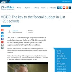 VIDEO: The key to the federal budget in just 120 seconds : ANZ