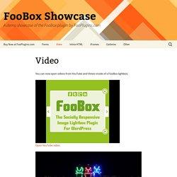 Video - FooBox Showcase