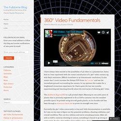 360° Video Fundamentals