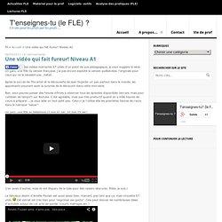 Une vidéo qui fait fureur! Niveau A1 - T'enseignes-tu (le FLE) ?T'enseignes-tu (le FLE) ?