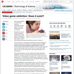 Video game addiction: Does it exist?