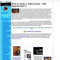 Make video games - The complete free tutorial
