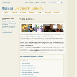 Video Games - University Library - UC Santa Cruz