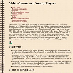 Video Games and Young Players