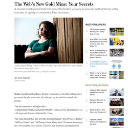 The Web's New Gold Mine: Your Secrets