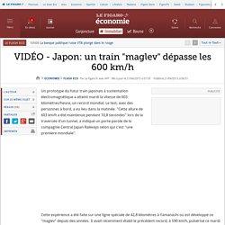 VIDÉO - Japon: un train 'maglev' dépasse les 600 km/h