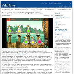 Video games can have lasting impact on learning