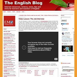 Video Lesson: The Job Interview - The English Blog
