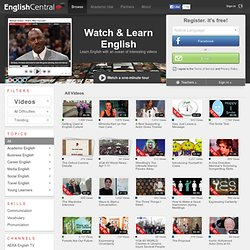 Practice speaking English while you watch great videos