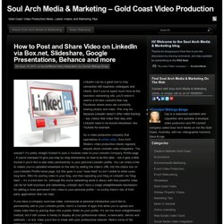 How to add video to Linkedin company pages