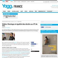 Vidéo: Mariage et égalité des droits au JT de TF1