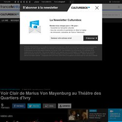 VIDEO. Voir Clair de Marius Von Mayenburg au Théâtre d'Ivry