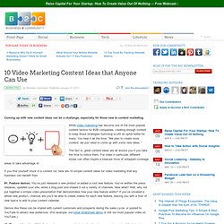 10 Video Marketing Content Ideas that Anyone Can Use