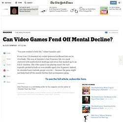 Can Video Games Fend Off Mental Decline?