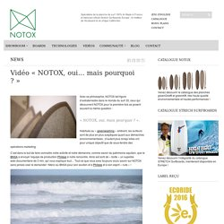 Vidéo «NOTOX, oui… mais pourquoi ?»