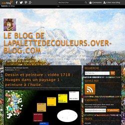 vidéo 1718 : Nuages dans un paysage 1 - peinture à l'huile.