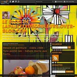 vidéo 2384 : Tuto pastel sec : nature morte aux fruits.