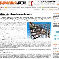 Vidéo et pédagogie, premiers pas (e-learning letter)