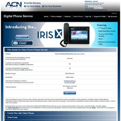 ACN IRIS X Video Phone with Digital Phone Service ( Past URL )