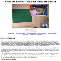 Video Production Module for Altera DE2 Board