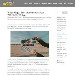 Video Kings: Best Video Production Vancouver in 2021