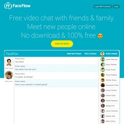Live Video Chat and Video Conferencing - FREE & Simple | FaceFlow