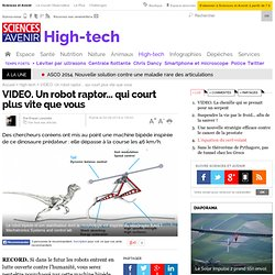 VIDEO. Un robot raptor... qui court plus vite que vous