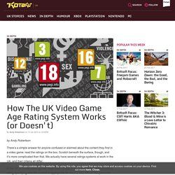 How The UK Video Game Age Rating System Works (or Doesn't)