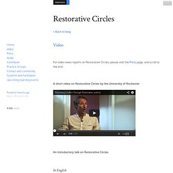 Video - Restorative Circles