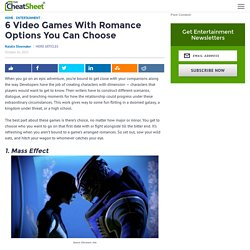 6 Video Games With Romance Options You Can Choose