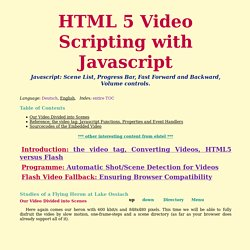 HTML 5 Video Scripting with Javascript