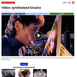 Video: synthesized Sinatra