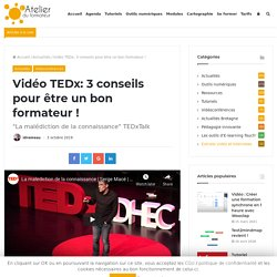 Vidéo TEDx: 3 conseils pour être un bon formateur !