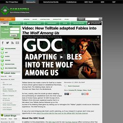 Video: How Telltale adapted Fables into The Wolf Among Us