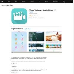 Video Toolbox - Movie Maker dans l'App Store