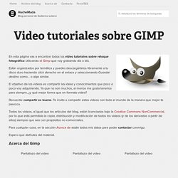 Video tutoriales sobre GIMP