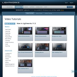 Lightworks - Tutoriels