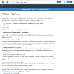 Video Tutorials - Postini Help
