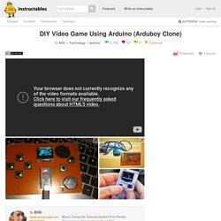DIY Video Game Using Arduino (Arduboy Clone): 7 Steps