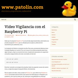 Video Vigilancia con el Raspberry Pi