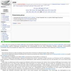 Vidéo Wikipédia : genèse de l'article 2009