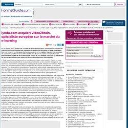lynda.com acquiert video2brain, spécialiste européen sur le marché du e-learning