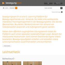 E-Learning Plattform für Bewegungslehre anhand von Videobeispielen (Bewegungsablauf und Kernbewegung) - bewegunglesen.ch