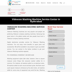 Videocon Washing Machine Service Center in Hyderabad