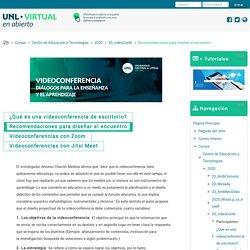 Curso: 2020 - Videoconferencia. Diálogos para la enseñanza y el aprendizaje, Tema: Recomendaciones para diseñar el encuentro