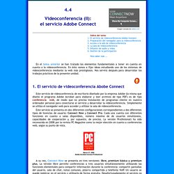 Tema 4.4 Videoconferencia (II): Adobe Connect