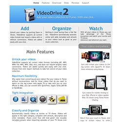 VideoDrive: Add your video collection to iTunes. With one Click.